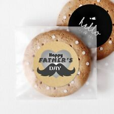 Happy Father's Day Gift Stickers Bakery Shop Product Packaging Mustache Stickers