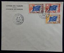 86H* Enveloppe Service/Conseil de l'Europe 1959