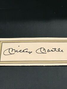 Authenticated Mickey Mantle & Roger Maris Autos (Lot of 2) New York Yankees COA