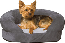 New listing K&H Pet Products Ortho Bolster Sleeper Orthopedic Dog Bed Small Gray