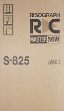 Riso Risograph Master 56W S-825 A3 RC 2500 4000 4500 5600 5800 6300 RA 6300    A