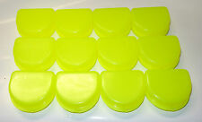 Dental Orthodontic 12 Retainer Denture Mouth Guard Case Bleach Tray Box YELLOW