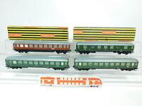BP749-2 #4x Trix Express H0 / Dc Vagón : A4üm/397 Db + 20/173 DSG,Buen + 2x