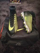 Nike MERCURIAL SUPERFLY V CR7 CR FG CALCIO UK 7 EUR 41 Verde Grigio 852511 376