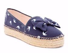 KATE SPADE Linds Espadrille Ballet Flats Slip On Shoes Navy Blue 7 M NIB S370390