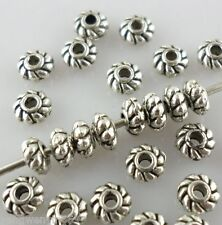 120pcs Ancient silver Small Flower Spacer Beads 2*4mm