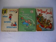 3~VINTAGE~BERENSTAIN BEARS~INSIDE OUTSIDE UPSIDE DOWN~BEAR SCOUTS~BIG HONEY HUNT
