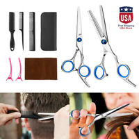 Professional Hair Cutting+Thinning Barber Scissors Shears Hairdressing Set+ Case