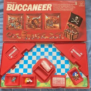 Waddingtons 1979 BUCCANEER BOARD GAME  Good condition Pirates Treasure