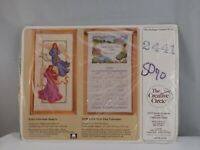 """NEW CREATIVE CIRCLE GLORIOUS ANGELS COUNTED CROSS STITCH KIT 8"""" x 16"""" #2441 SS02"""