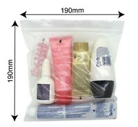 6 x Clear Airport Security Liquid Bags Plastic Seal Holiday Travel Hand Luggage