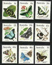 1983 Australia - Australian  Animals Series III - Butterflies (9) MNH