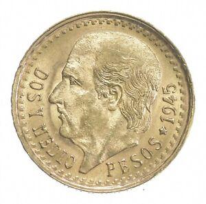 1945 2 1/2 Pesos - Miguel Hidalgo y Costilla - Mexico Gold Coin *412