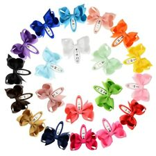 10Pc/set 2.75 Inch small Baby Girls Kids Ribbon Hair Clip Bows Clips Snap School