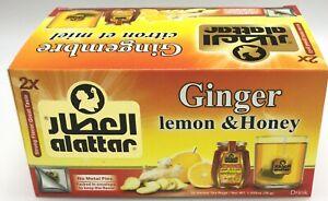 Al Attar All Natural Herbal Tea Ginger Honey Lemon x20 Enveloped Bags FREE POST
