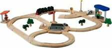 PlanToys Road & Rail Turntable Play Set