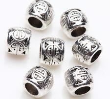 25pcs Tibetan Silver Lunck Ball Charm Spacer Bead Bracelet Jewelry Finding 6x5mm