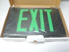 LED Plastic Exit Sign AC Only 120V/277V Black Green Letters, 1 or 2 Sided