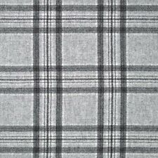 Abraham Moon Aspen Grey 100 Wool Tartan Fabric. Our