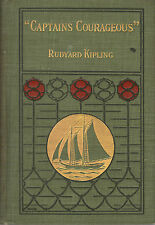 CAPTAINS COURAGEOUS-RUDYARD KIPLING-1ST/1ST-1897-STUNNING BOOK-VERY COLLECTIBLE!