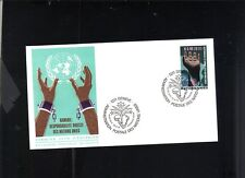 FDC 1975 GENEVA UNITED NATIONS .50 STAMP NAMIBIE RESPONSABILITE DIRECT