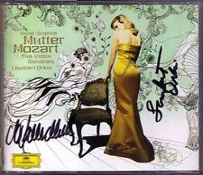 Anne-Sophie MUTTER, Lambert ORKIS Signed MOZART Violin Sonatas 4CD Violinsonaten