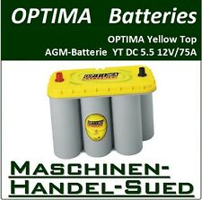 Optima YT S 5.5 Yellow Top - 12V 75Ah AGM-Batterie für Jeep  Jacht  Wohnmobil