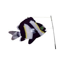Black & White Swimming Fish Staked Bobber & Stake Windsock..15.... PR 26501