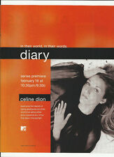 Celine Dion Diary Trade Ad Poster for Decade of Song Cd Mint 2000