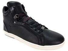 Ted Baker Men's Alcaeus Hi Top Fashion SNEAKERS Black Leather Size 8 M