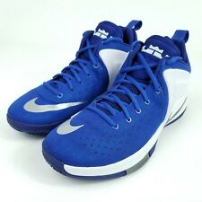 NIKE Zoom Witness Basketball Shoes Mens Sz 10.5 Blue/White/Grey 852439 400