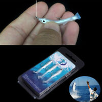 New 3pcs 3D Eye Eel Fishing Lures Hook Silicone Bass Crank Swimbaits Tackle