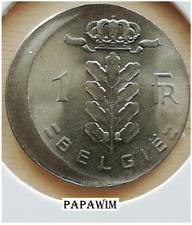 1 Fr. 1975 België. Boudewijn I. Excentrisch/Misslag/Error/Fautée/fehlprägung.