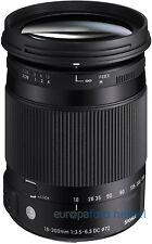 Sigma AF 18-300 mm f/3, 5-6,3 DC OS HSM pour Nikon d5300 d5500 d7000 d7100 d7200