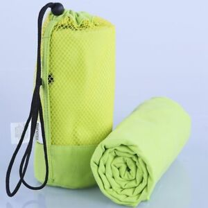 Gym Sports Microfiber Towel Swimming Travel Quick Absorb Cloth With String Bag