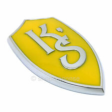 JDM Nissan 95-98 240SX Silvia S14 Yellow K'S KS Emblem Badge 7889671F60 Genuine
