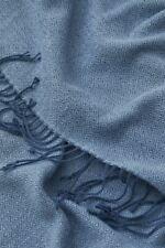 H&M HOME Plaid Fransendecke blau 130x170cm Kuscheldecke Rautenmuster NEU