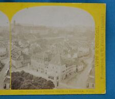 1860s Suisse Stereoview 129 Panorama De Fribourg Alpine Club  W England