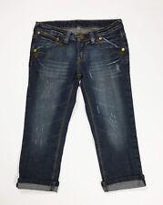 Kathleen shorts jeans donna usato bermuda S denim vintage blu vita bassa T4252
