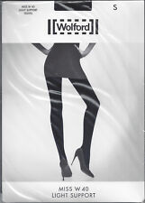 Wolford Miss W 40 Light Support Tights Pantyhose Small Nude Gobi 11263 4f6cf4efead