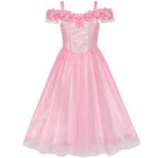 Flower Girls Dress Pink Cold Shoulder Bridesmaid Wedding Age 6-12 Years Pageant