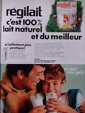PUBLICITÉ 1968 RÉGILAIT C'EST 100% LAIT NATUREL ET DU MEILLEUR - ADVERTISING