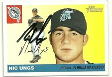 2004 Topps Heritage NIC NICHOLAS UNGS Signed Card autograph MARLINS