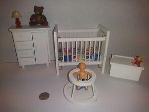 Town Square Dollhouse Miniatures 4 pc.Nursery Set  1/12 scale