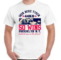 50 Wins Iron Mike Tyson Mens Boxing T-Shirt Tyson MMA Boxer Training Top Gym