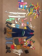 LOT Containing Over 100 Pieces Vintage Barbie Accessories Shoes