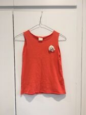Zara Girls Soft Collection Orange Top With White Flower Age 7/8