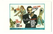 James Bond postcard - 'From Russia With Love' - UK poster (1963)