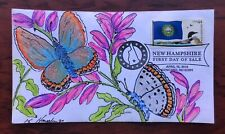 New Hampshire Flag $4307 FDC, HD  Hayden cachet art State Butterfly, Karner Blue