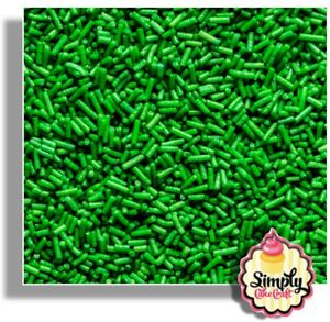 Cake Decoration Dark Green Sugar Strands - Cupcake Sprinkles Hundreds